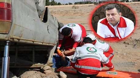 امدادرسانی۲۰۲ مورد حادثه در ۶ ماهه اول سال ۹۹ توسط نجاتگران هلال احمر استان
