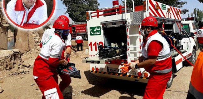 انجام ۱۴۵ عملیات امداد و نجات هلال احمر یزد